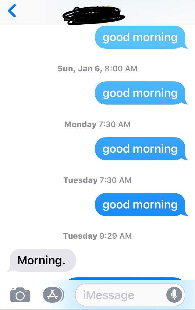 Should I text her everyday